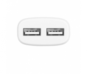 Incarcator retea iPhone Dual USB Lightning iPhone HOCO C12 2.4A Alb Blister Original1