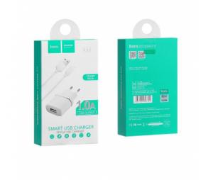 Incarcator retea Micro USB HOCO C11 1A Alb Blister Original1