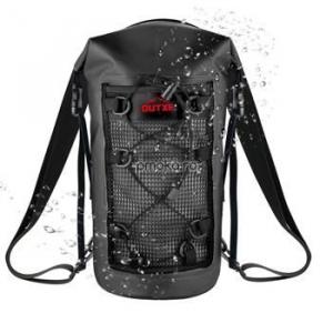 OUTXE IPX7 100% Waterproof TPU 10L Backpack Black, impermeabil0
