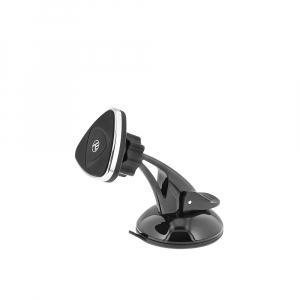 Suport auto pentru telefon Tellur, magnetic, montare geam/bord cu ventuza, Negru [1]