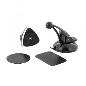 Suport auto pentru telefon Tellur, magnetic, montare geam/bord cu ventuza, Negru [3]