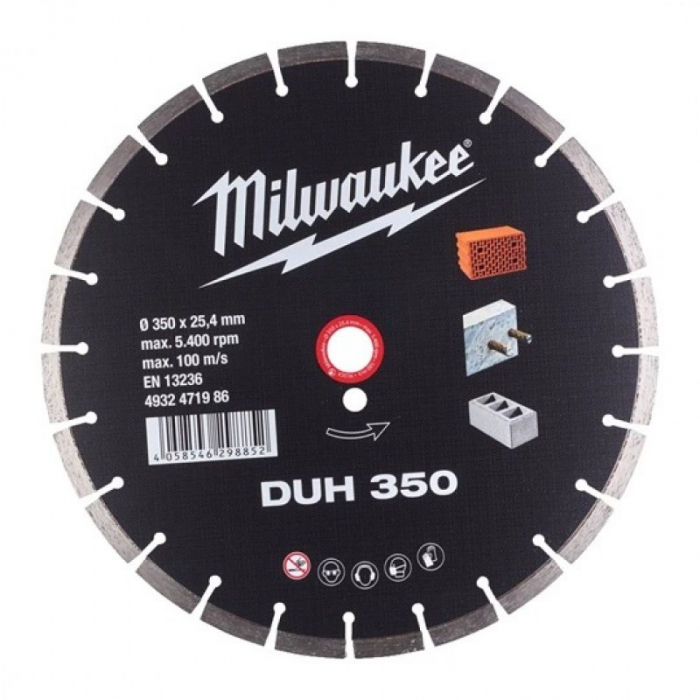 Disc diamantat Profesional DUH, 350mm Milwaukee (4932471986) 0