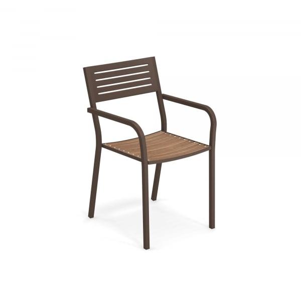 Segno Armchair with teak seat – Emu 1