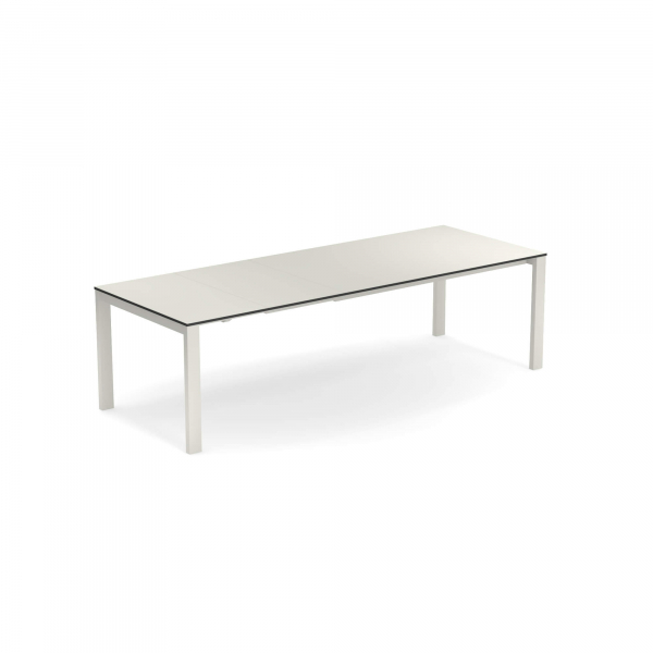 Round Extensible table with Hpl top 160+54+54×100 – Emu 1