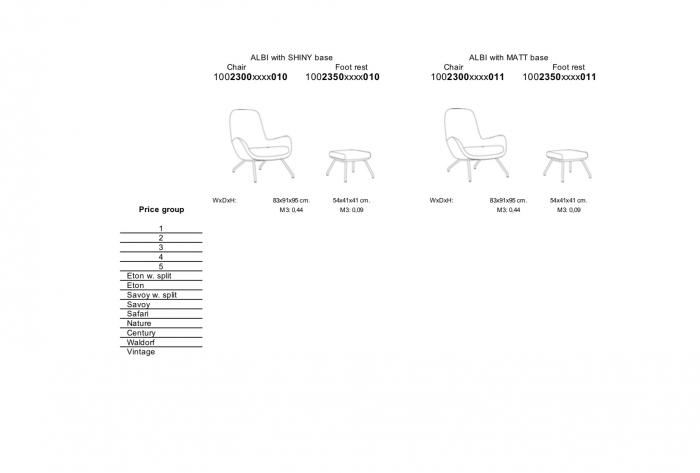 Fotoliu Albi structura lucioasa 6