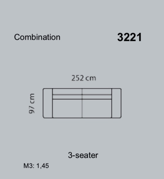 Canapea Lucera 252 x 97 cm 10