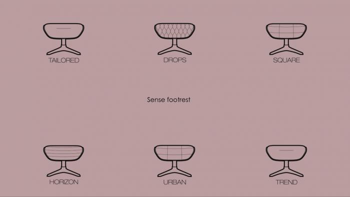 Fotoliu Flexlux Sense Drops- Grey 5