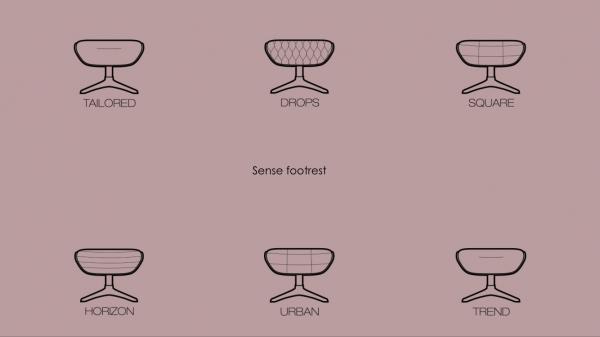 Fotoliu Flexlux Sense Square- piele Off White [5]