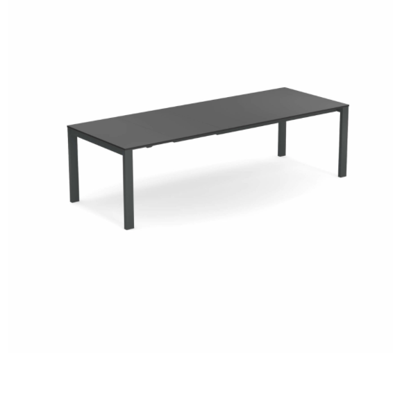 Round Extensible table with Hpl top 160+54+54×100 – Emu 3