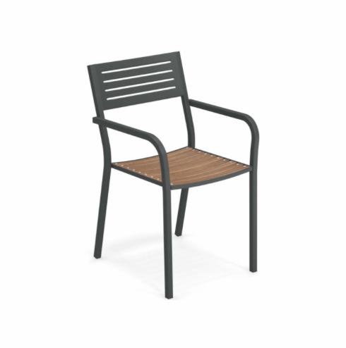 Segno Armchair with teak seat – Emu 5