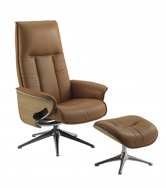 Fotoliu Flexlux Sense Tailored- piele Amber Brown 0