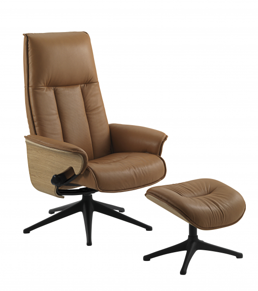 Fotoliu Flexlux Sense Tailored- piele Amber Brown 2