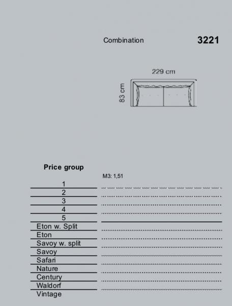 Canapea Asolo 230 X 84 cm & suport de picioare [2]