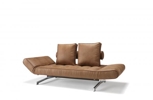 Canapea de zi Ghia cu picioare cromate 4