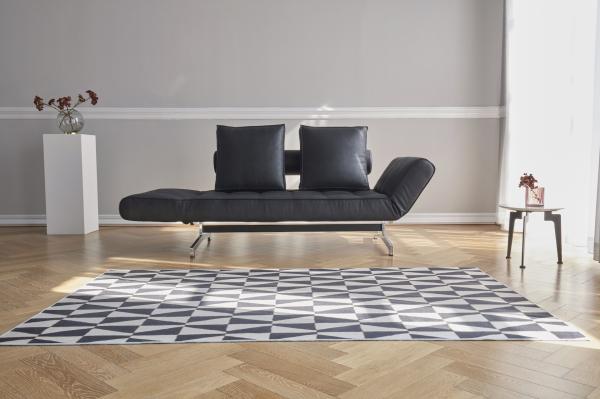 Canapea de zi Ghia cu picioare cromate 12