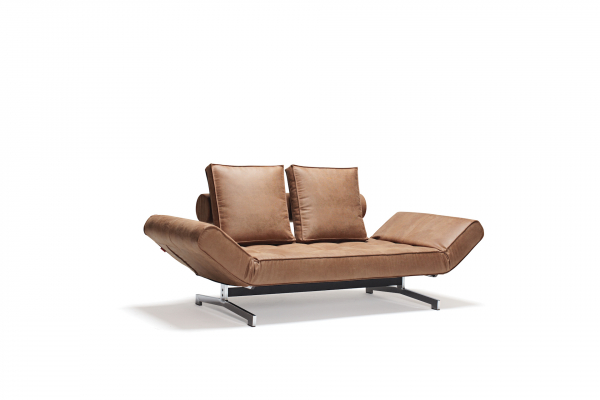 Canapea de zi Ghia cu picioare cromate 1