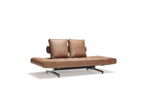 Canapea de zi Ghia cu picioare cromate 0