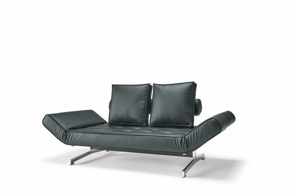 Canapea de zi Ghia cu picioare cromate 5