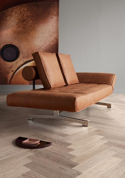 Canapea de zi Ghia cu picioare cromate 17