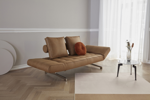 Canapea de zi Ghia cu picioare cromate 15
