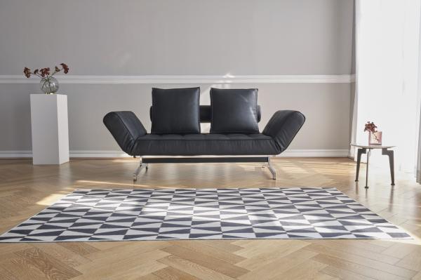 Canapea de zi Ghia cu picioare cromate 13