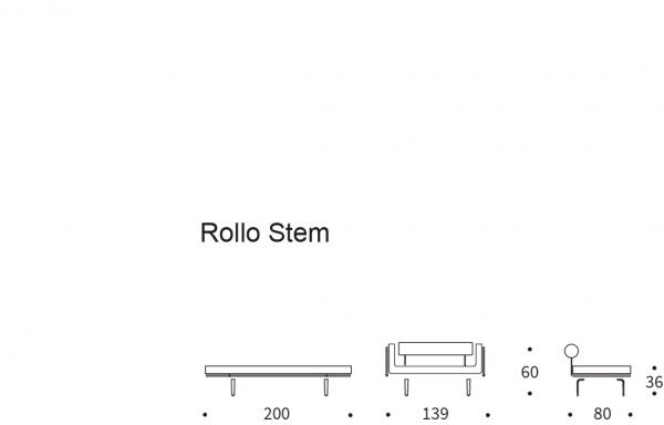Canapea de zi Rollo 66