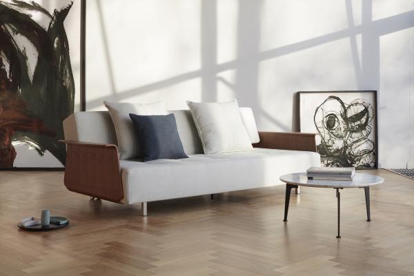 Canapea Extensibila Long Horn cu brate de nuc [6]