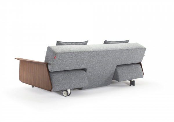 Canapea Extensibila Long Horn cu brate de nuc [5]