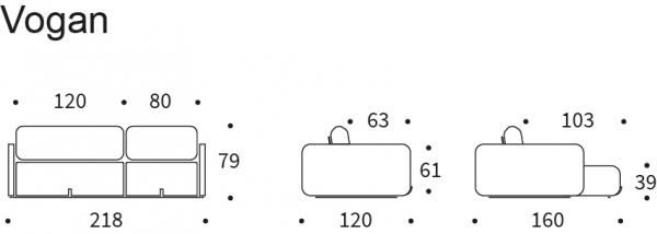 Canapea Extensibila Vogan 26
