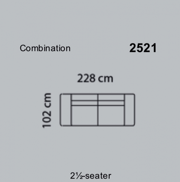 Canapea Fresno 228 x 102 cm 6