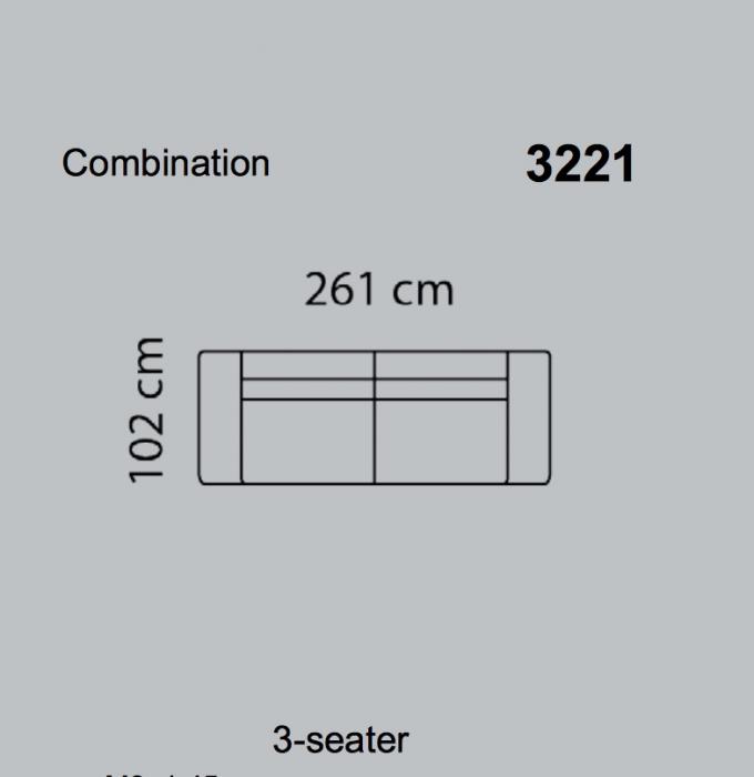 Canapea Fresno 261 x 102 cm 12
