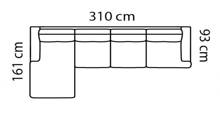 Coltar Forli 310 x 161 x 93 cm [7]