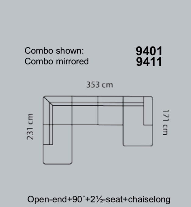 Coltar Lucera 353 x 231 x 171 cm 15
