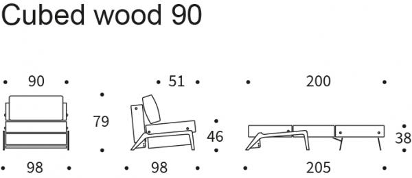 Fotoliu Cubed Wood 90 [3]