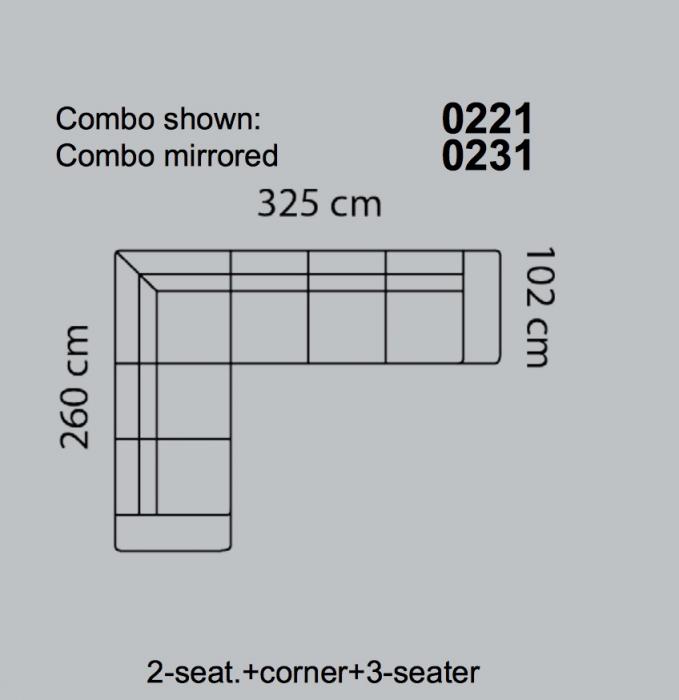 Coltar Fresno 325 x 260 x 102 cm 4