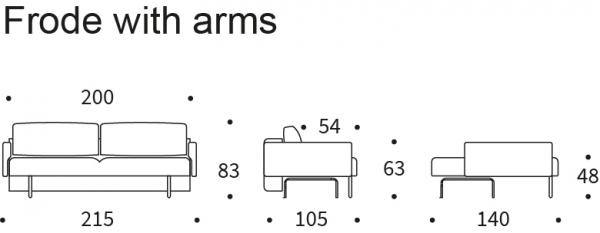 Canapea Extensibila Frode cu brate 22