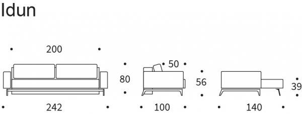 Canapea Extensibila Idun cu brate 25