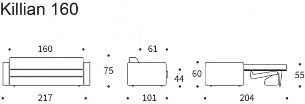 Canapea extensibila Killian 160 (Dual Mattres) 5