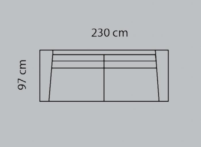 Canapea Valenza 230 X 97 cm 4