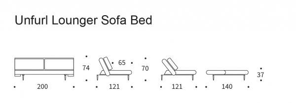 Canapea extensibila Unfurl 140 13