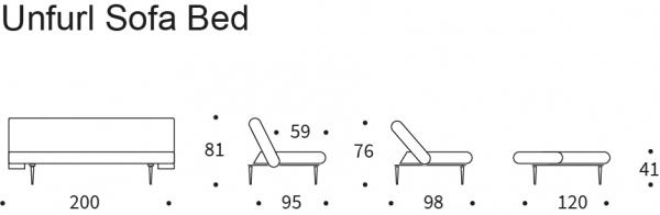 Canapea Extensibila Unfurl 51