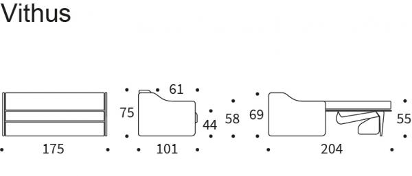 Canapea extensibila Vithus 7