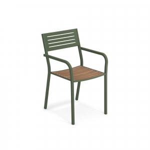 Segno Armchair with teak seat – Emu2
