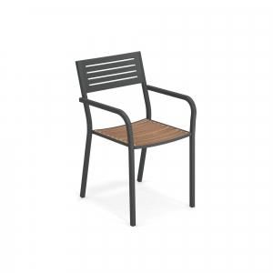 Segno Armchair with teak seat – Emu3