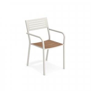 Segno Armchair with teak seat – Emu4