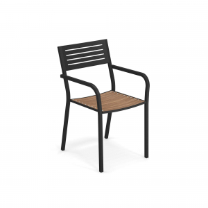 Segno Armchair with teak seat – Emu0
