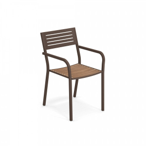 Segno Armchair with teak seat – Emu1