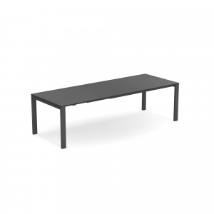 Round Extensible table with Hpl top 160+54+54×100 – Emu0