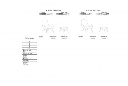 Fotoliu Albi structura lucioasa [6]