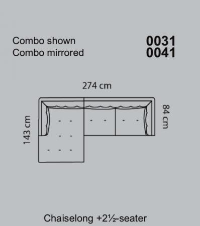 Coltar Asolo 274 X 143 X 84 cm [13]
